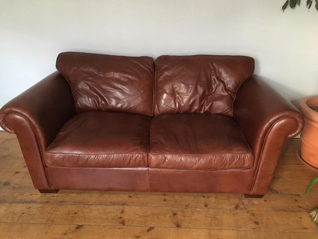 Remarkable Real Leather Laura Ashley Sofa Bed In Budleigh Salterton Devon Gumtree Download Free Architecture Designs Embacsunscenecom
