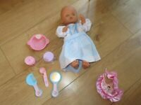 "CHILDREN'S ""BABY"" DOLL WITH ACCESSORIES - great condition - can be fed"