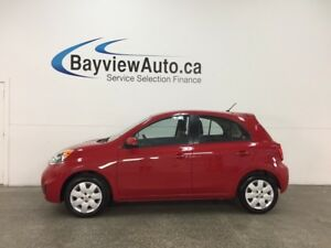 2017 Nissan Micra SV - AUTO! HUBCAPS! A/C! PWR GROUP! CRUISE!