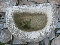 Granite D SHAPED GARDEN FEATURE. (plus other items) Truro Cornwall