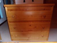 Handmade Solid Pine Chest of Drawers