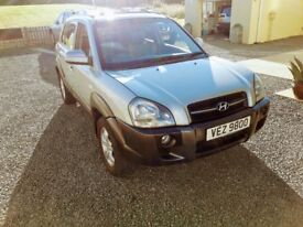 TOP OF THE RANGE 2008 HYUNDAI TUCSON 2.0 CDX PETROL 4X4 WITH HEATED LEATHER,SUNROOF,A/CON,CRUISE.