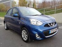 2014 NISSAN MICRA ACENTA 1.2 AUTOMATIC PETROL, 5 DOOR , ULTRA LOW MILEAGE , 3 MONTHS WARRANTY