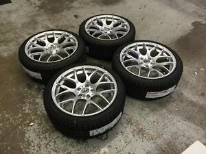 """18"""" VMR Hyper Silver Wheels 5x112 and Winter Tires 225/40R18 (Volkwagen Cars) **August Blowout Sale** Calgary Alberta Preview"""