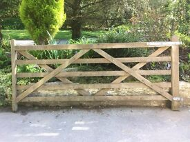 5 bar timber gate Duchy Timber supplied