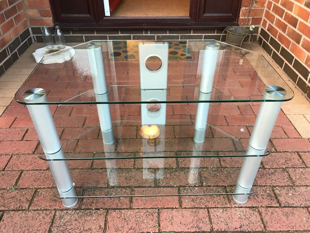 3-Tier Glass TV Stand