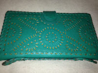 Ethnic/Boho Leather Wallet/Organizer Made in Mexico