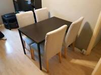 4 IKEA Henriksdal chairs, FREE TABLE