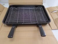 Extra large grill pan, rack & handles, (compatible with Bosch & other makes - 420mm x 300mm) NEW