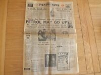 """LAST EDITION OF THE """"YORKSHIRE EVENING NEWS"""" DEC.3 1963"""