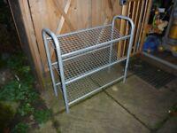 3x tier metal shoe rack.
