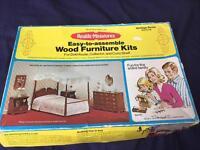 Dolls house kit/book/china tea set/1960's child's medical set