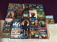 Mega Blu Ray DVDs bundle job lot boot sale mostly new 3D
