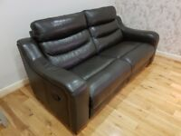 3 + 1 Reclining Leather Sofa and Armchair Set -