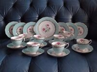 Roslyn Bone China Full Tea Service. Immaculate. Pattern number R823