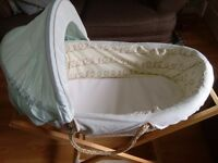 LOLLIPOP LANE MOSES BASKET AND STAND WITH MATTRESS £25 ono