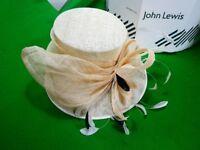Wedding/Ascot Ladies Hat - IVORY/CREAM John Lewis