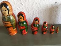 Various Russian dolls matryoshka (F-K) please see prices in details