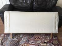 Cream double bed headboard