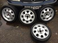 Peugeot 205 gti alloy wheels with tyres
