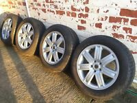 Range Rover/Discovery/VW T5 Transporter Refurbished Alloy Wheels and 255/55/19 Winter/Snow Tyres.