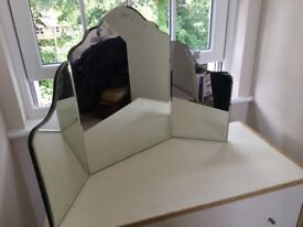 Pretty three fold vanity mirror