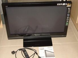 "Panasonic Viera 37"" Plasma flat panel TV with stand / remote / manual"