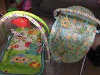 Play mat and bouncer chair