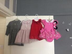 Girls dresses size range from 0-3months to 12-18 months