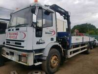Iveco 18 tonner with crane 1999 on springs Manuel pump