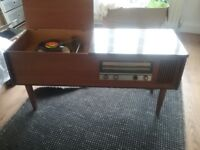Radiogram fully working Monarch turntable and radio
