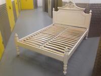 Heavy French shabby chic Style DOUBLE BED FRAME Bedroom furniture Laura Ashley John Lewis habitat