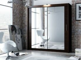 BEDROOM FURNITURE-Berlin Wardrobe in Multiple color choices and size-