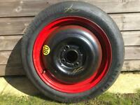Spare wheel and tyre