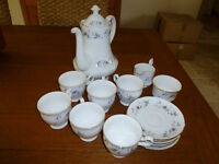 GAINSBOROUGH CHINA COFFEE SET