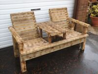 GARDEN OR PATIO FURNITURE JACK AND JILL DOUBLE CHAIRS