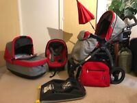 Peg Perego Book S Pop Up Travel System with Isofix Base