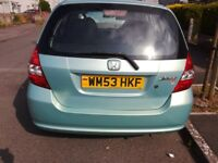 Honda jazz 1.4,DSI SE,5 DOOR. 04 model 53 plated.