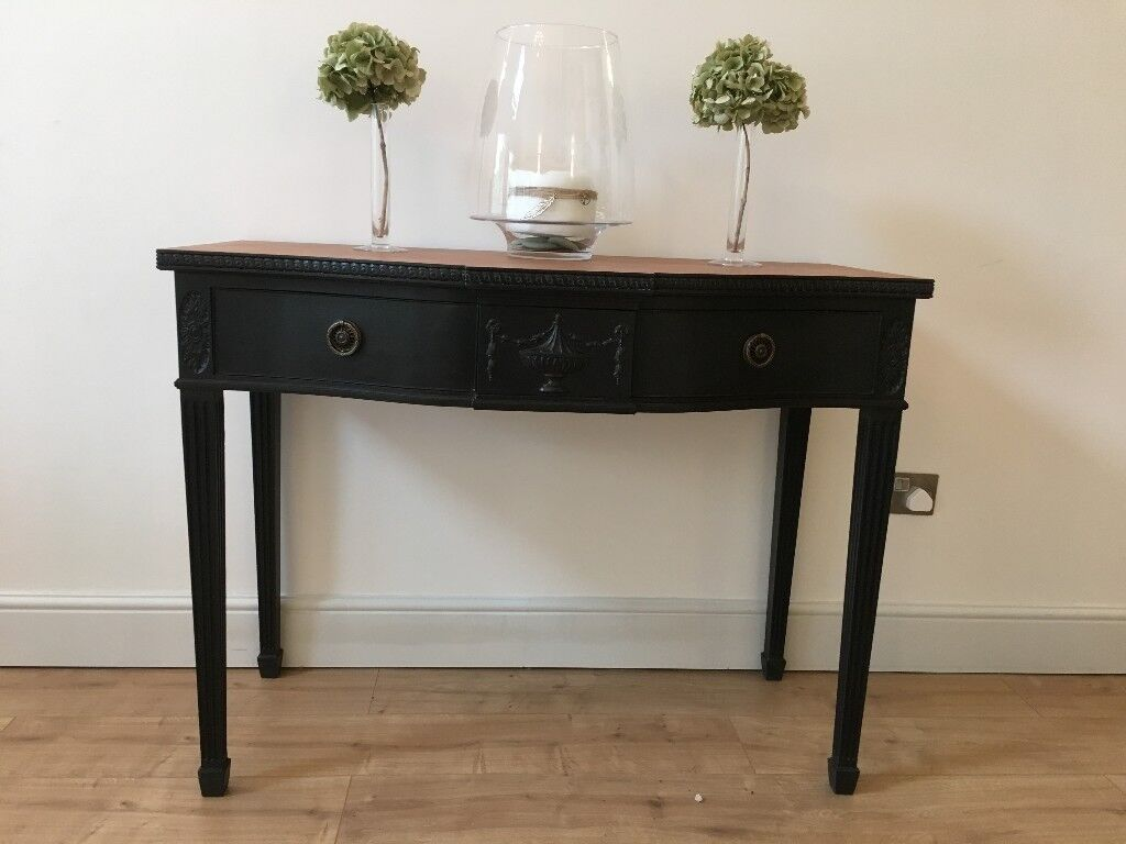 Shabby Chic Hall Console Table Desk With Drawers Elegant Painted Side