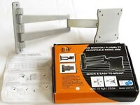 LCD TV / Monitor adjustable WALL BRACKET - up to 15kg load - boxed - £15