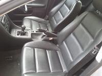 Audi A4 B6 Saloon Leather Seats 2001-2006 Black Interior Inc Door Cards