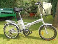 "Electric Folding Bike : ""Synergie"" high quality alloy frame."