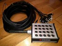 Studiospares 16 in 4 out XLR snake 10m