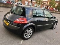 Renault Megane Grey 2006, 1.6 MOTD, 63k mileage with FSH, 1 previous owner, 2 keys