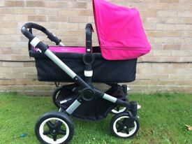 Bugaboo Buffalo Pushchair, comes with carry cot & raincover