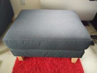 Footstool IKEA Karlstad in slate grey with extra cover - excellent condition