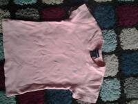 pink ralph Lauren top size 7 £2