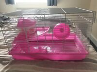 Free to collector pink hamster cage
