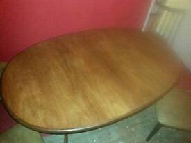 Retro g plan extendable table 8 chairs