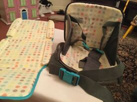 As new and perfect condition booster seat and changing mat . I can deliver if local